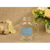 Wholesale 470ml Glass Tableware Mason Jar Mugs Food Storage Cans With Handle from china suppliers
