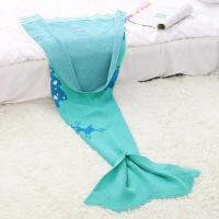 Wholesale 2016 Christmas Gift 100% Acrylic Mermaid Blanket for Children from china suppliers