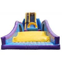 China Drop Kick Giant Inflatable Sports Games / Water Slide 0.9mm PVC Made on sale