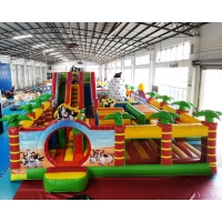 Wholesale 30x37m Inflatable Amusement Park Jungle Jumping Bouncer Castle from china suppliers