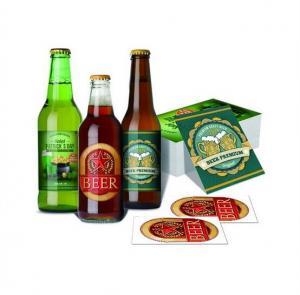 OEM Waterproof Metalized Labels Custom Adhesive Sticker Beer Labels For Wine Bottle
