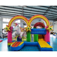 Wholesale Children Unicorn Inflatable Castle Combo Bounce House from china suppliers