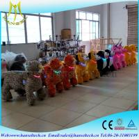 Wholesale Hansel battery coin operated children ride game centers amusement park stuffed animals electric dog walking machine from china suppliers