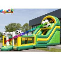 Wholesale Commercial Soccer Inflatable Slide With Football Bouncing Castle from china suppliers