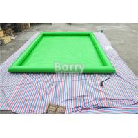 Buy cheap Green Customized Large Square Inflatable Swimming Pool PVC Tarpaulin Material from wholesalers