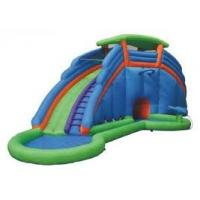 China Amazing outdoor residential inflatable water slides  for rent With Climbing on sale