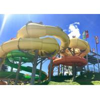 Giant Spiral Tube Water Slide , Outdoor Swimming Pool Adult Water Slide FRP