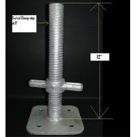 China Galvanized Scaffold System Adjustable Base Jack , Scaffolding Adjustable Jack Base on sale