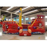 Wholesale Double Stitching Pirate Bounce House , Pirate Ship Inflatable Bouncer 10 X 5 X 4m from china suppliers