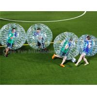 Wholesale 1.5m Transparent Bumper Ball Zorb Football for sports game from china suppliers
