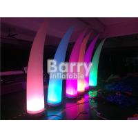 Buy cheap LED Blow Up Pillar Lighting Decoration For Advertsing , Inflatable Light Tube from wholesalers