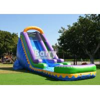 Wholesale Outdoor Commercial Inflatable Water Slides With Pool For Backyard Party from china suppliers