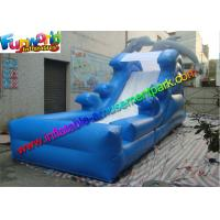 China 18 OZ Home Mini Doplhine inflatable water slides for pools on sale