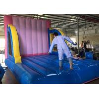 Wholesale Outdoor Adults And Kids Sport Inflated Fun Games / Inflatable Velcro Wall from china suppliers