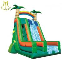 China Hansel  inflatable games for children inflatable giant playground bouncy castle slide on sale