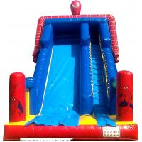 Wholesale Blue And Red PVC Spiderman Kid Giant Inflatable Slide For Commercial from china suppliers