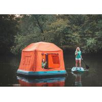 Wholesale Orange / Blue Inflatable Shoal Floating Tent / Portable Beach Pop Up Tent from china suppliers