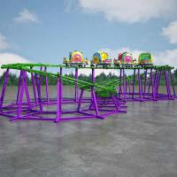 China Indoor Theme Park Roller Coaster Track Length 52m Automatic Control on sale