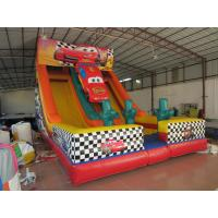 Buy cheap Classic Red Colour Interesting Inflatable Car Slide 0.55mm PVC Tarpaulin from wholesalers