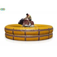 Buy cheap Adult And Kids Giant Inflatable Outdoor Games Mechanical Bull Ride Game from wholesalers
