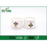 Wholesale 6 Oz Size 240 ML Disposable Eco - friendly White Paper Ice Cream Cups Impermeable from china suppliers