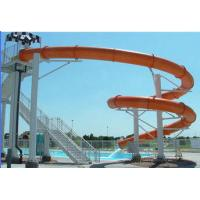 Wholesale Fiberglass Swimming Pool Water Slides , Customized Water Park Equipment For Kids from china suppliers