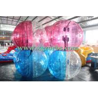 Buy cheap Half Red Half Clear Inflatable bubble football for kids from wholesalers