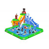 China new design inflatable pirate ship water slide with inflatable pool on sale