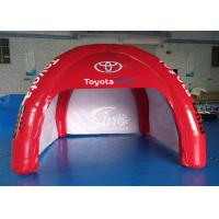Wholesale 4x4m outdoor Toyota movable airtight inflatable advertising tent digitally printed completely with 4 sides doors from china suppliers