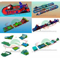 Factory OEM Obstacle Run World Biggest Inflatable Bouncy House side for Family