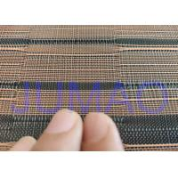 Wholesale Black And Copper Color Glass Laminated Metal Mesh Fabric With Images from china suppliers