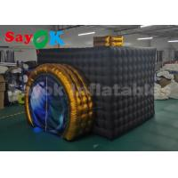 Quality Foldable LED Promotion Inflatable Photo Booth With Air Blower Black Color for sale