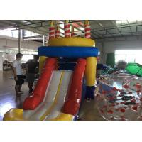 Quality Indoor Children Birthday Candle Inflatable Bounce House Combo With Slide 3 Years for sale