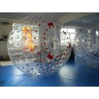 Wholesale Red Dot 0.8mm PVC Inflatable Zorb Ball , Inflatable Human Hamster Ball 3m x 2m Dia from china suppliers