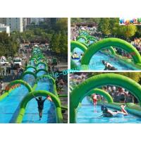 China 1000 Feet Giant Splash Inflatable Water Slide , Commercial Water Slides on sale