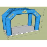 Wholesale 23 Feet  Green Oxford Fabric Inflatable Entrance Arch For Water Park Entrance from china suppliers