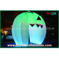 Wholesale Cute Inflatable Holiday Decorations Lighting Ghost Door / Large Inflatable Pumpkin from china suppliers