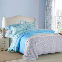 Wholesale 4 Piece Navy Blue Bedding Sets , 100 Percentage Cotton Beautiful Bedroom Bedding Sets from china suppliers