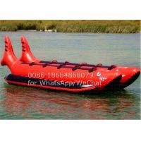 China Double Seats Red Shark PVC Inflatable Boat , Inflatable Banana Boat 10 Man Ride on sale