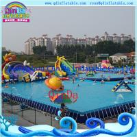 Wholesale QinDa Frame Pool, Moving Water Park, Moving Park, Inflatable Water Moving Park from china suppliers