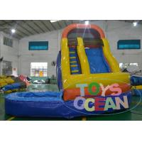 China Wave Sharp Inflatable Pool Water Slides For Adults / Fun Garden Water Slides  CE on sale