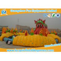 China Durable Large Inflatable Games / Inflatable Water Slide With Huge Pool Park For Amusement Park Games on sale