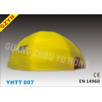Wholesale Warp-527N Weft-323.8N Yellow Inflatable Camping Tent YHTT-007 with EN 14960 from china suppliers