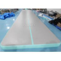 Wholesale 33ft Mint Green home training Cheerleading Inflatable tumbling air mats for Gymnastics from china suppliers