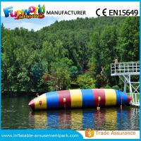 Colorful PVC Inflatable Water Toys Durable Water Jumping Blob Customized
