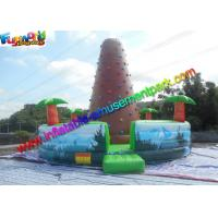 China Customized Inflatable Climbing Wall , inflatable rock wall With Jungle on sale