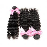 Wholesale Natural Black Brazilian Hair Bundles Extensions Deep Weave No Tangle from china suppliers