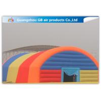 Giant Inflatable Party Tent Inflatable Structure Multi Color , 18*10m