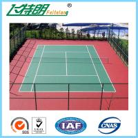 Quality PU Sports Court Flooring Synthetic Tennis Court / Basketball Court / Badminton Court for Ourtdoor or Indoor for sale