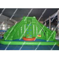 China 7m X 5m Big Inflatable Water Slide 0.55mm Pvc For Adventure Playground on sale